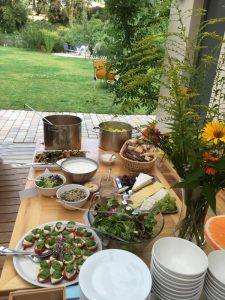 Pausen-Buffet im Garten