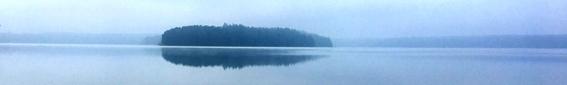 Stechlinsee Panorama im Nebel